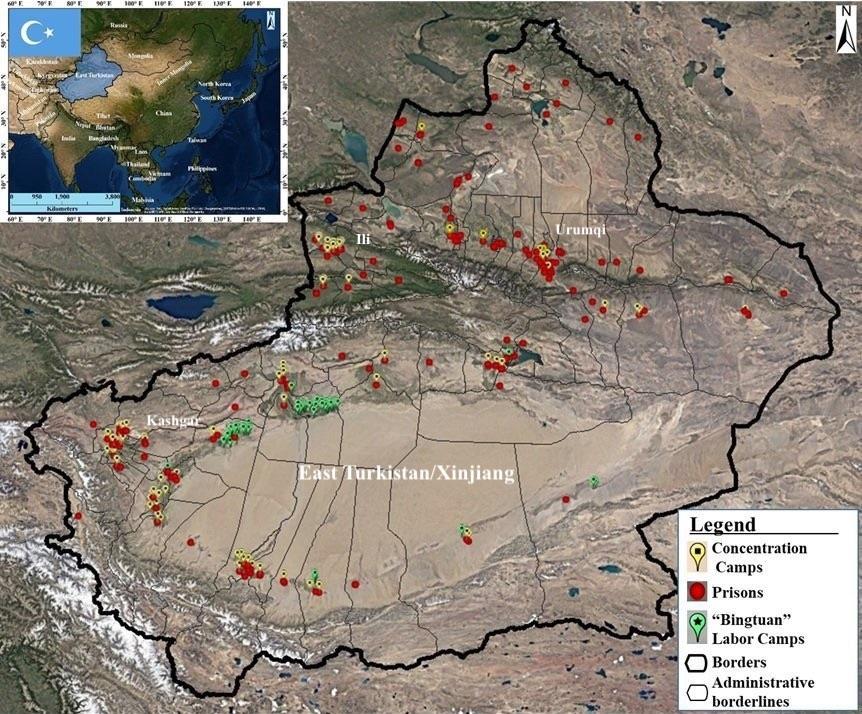 新疆境內滿是再教育營、勞改營與監獄。圖片來源:East Turkistan National Awakening Movement/Facebook