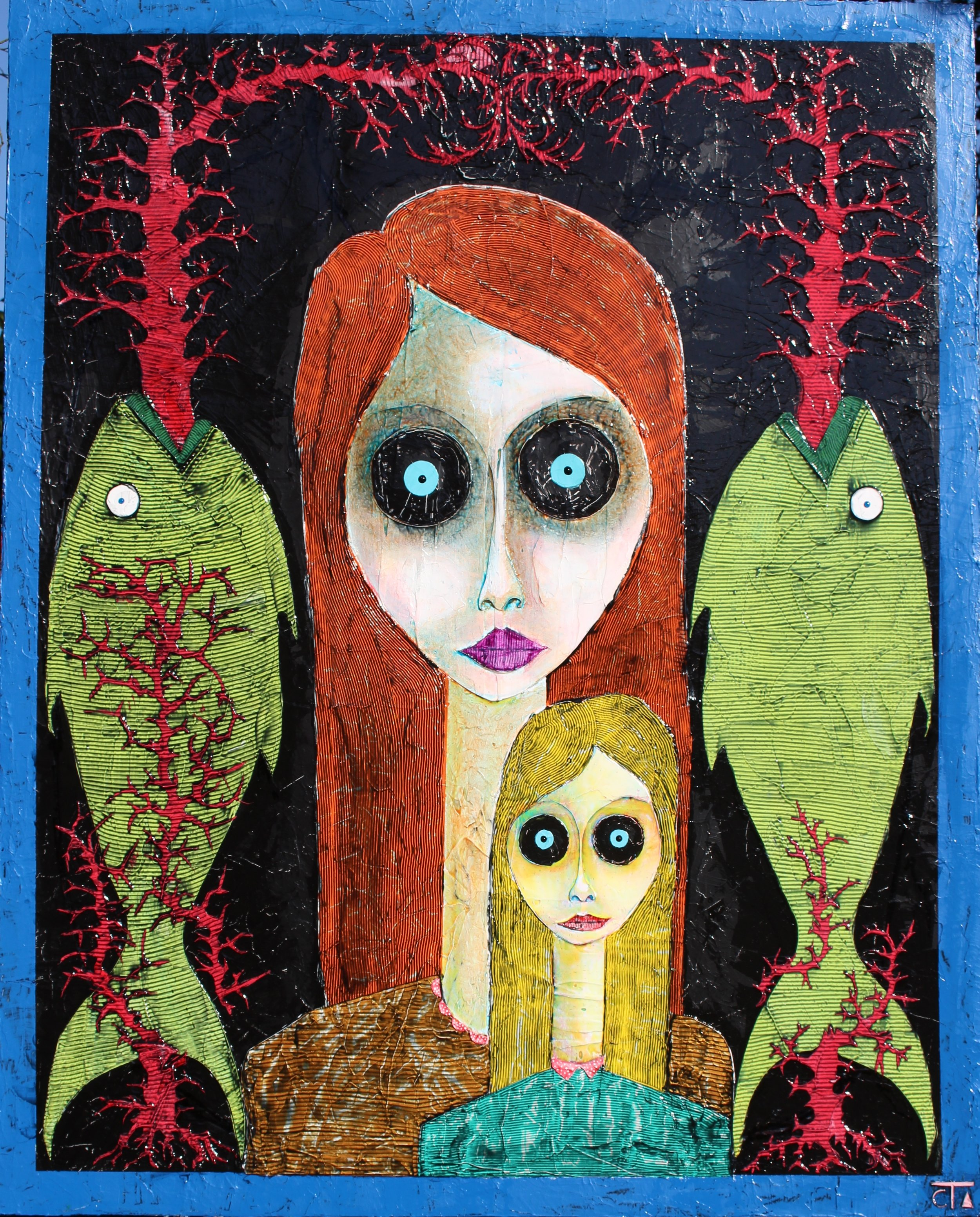 Amor Fati (Mère-Enfant-Entité- Scénographie Christine DEOM) 150 x 120  2000.jpg