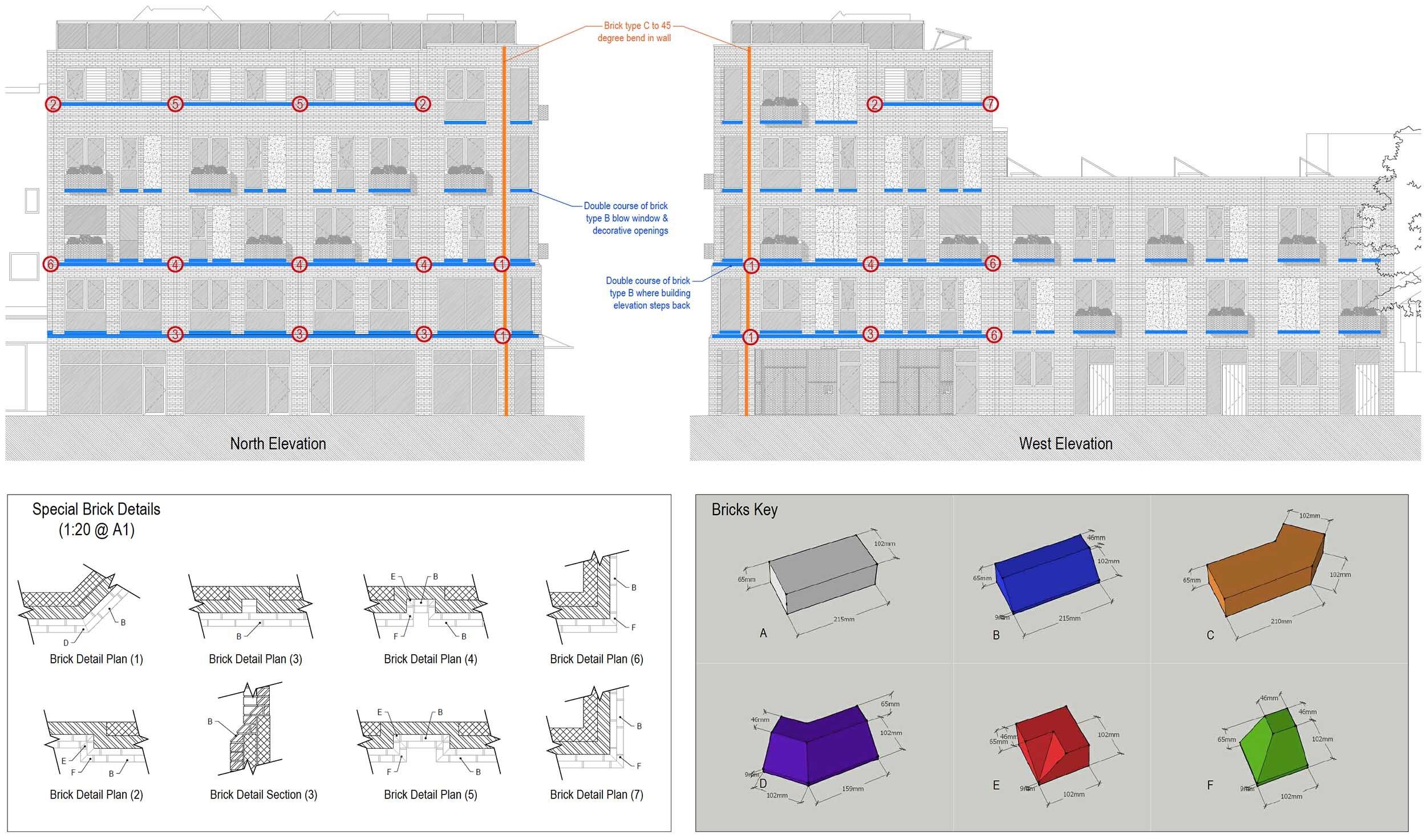 Brick Detailing - Apex Architecture