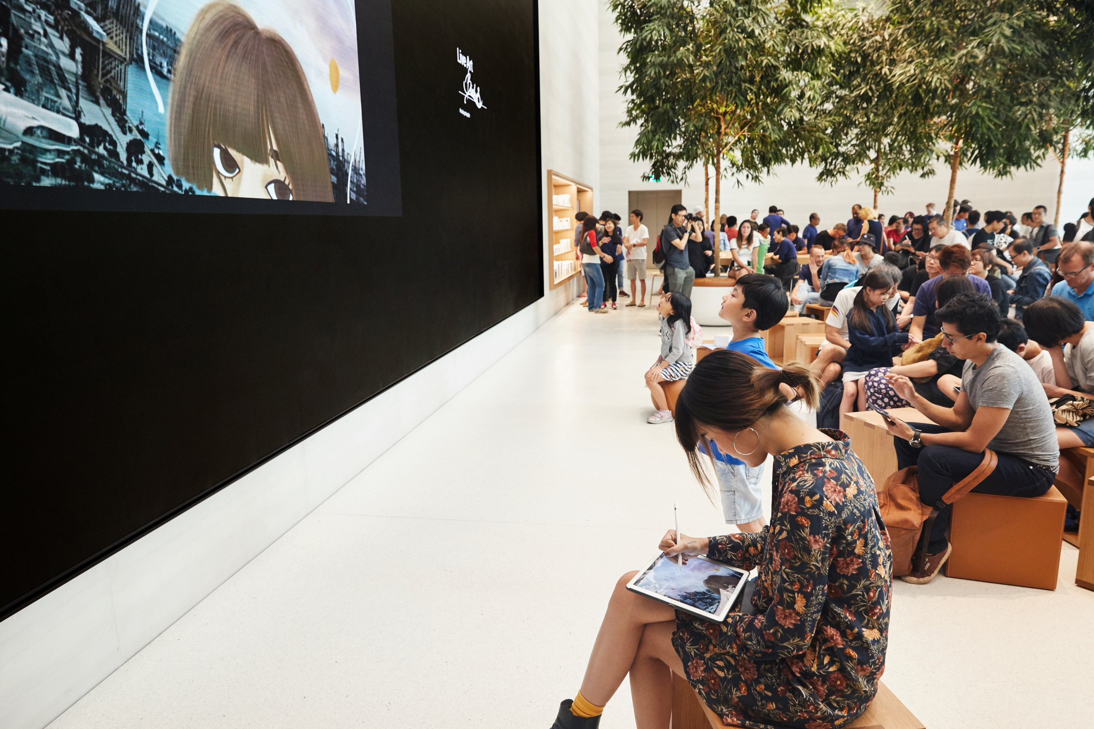 Apple stores have now become modern-day town squares. (Photo: Apple)