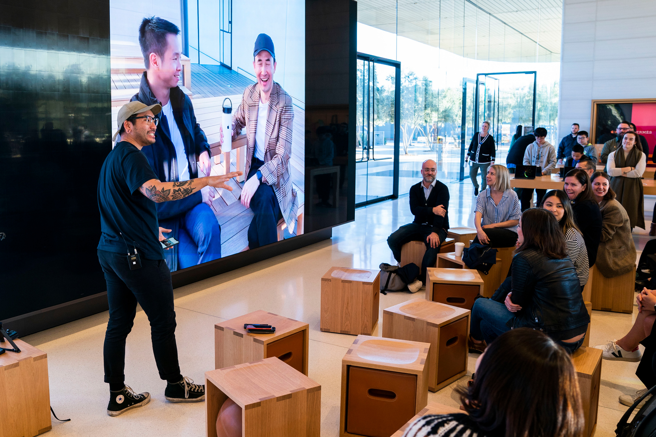 At the end of every session, participants are invited to share their work and celebrate the creations of their peers. (Photo: Apple)