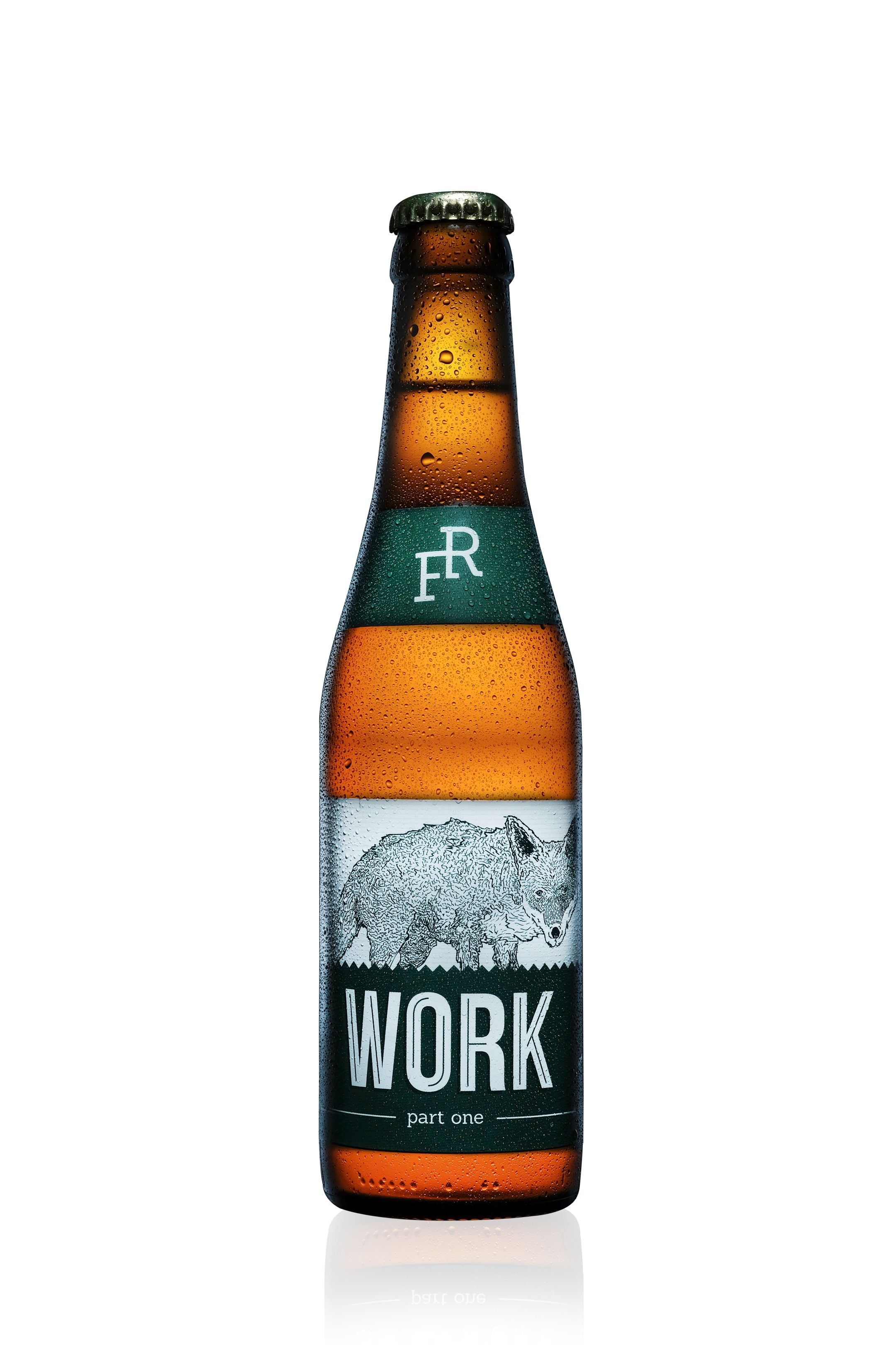 WORK  i.p.a., 5.4%, our flagship india pale ale, clean and complex. After 3 or 4 pints, the world becomes a better place.