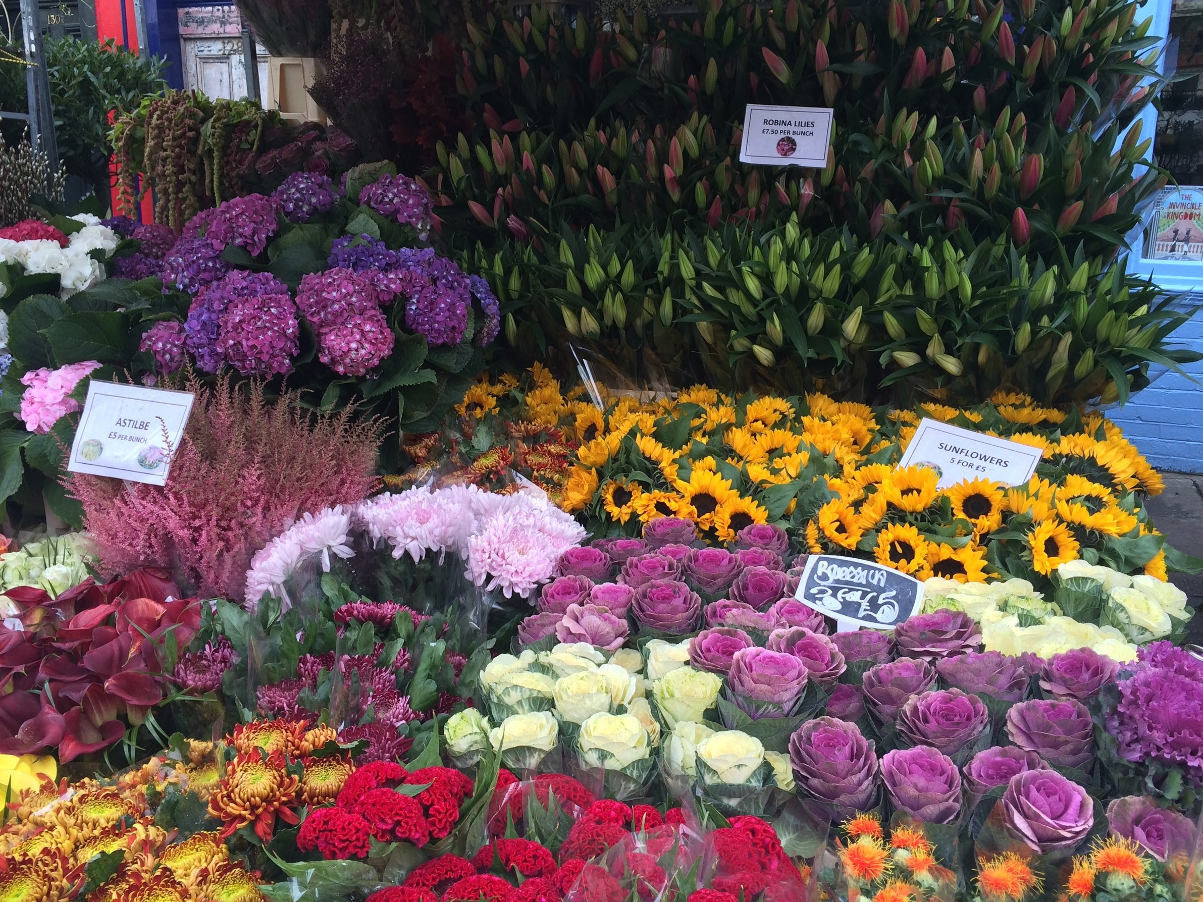 A fabulous flower market is always ripe for inspiration.