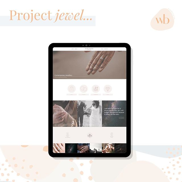 Little personal project website for a contemporary jeweller, soft tones, elegant imagery and clean lines #websitedesign #websitedesigner #websites #squarespacedesigner #squarespace #creativedesign