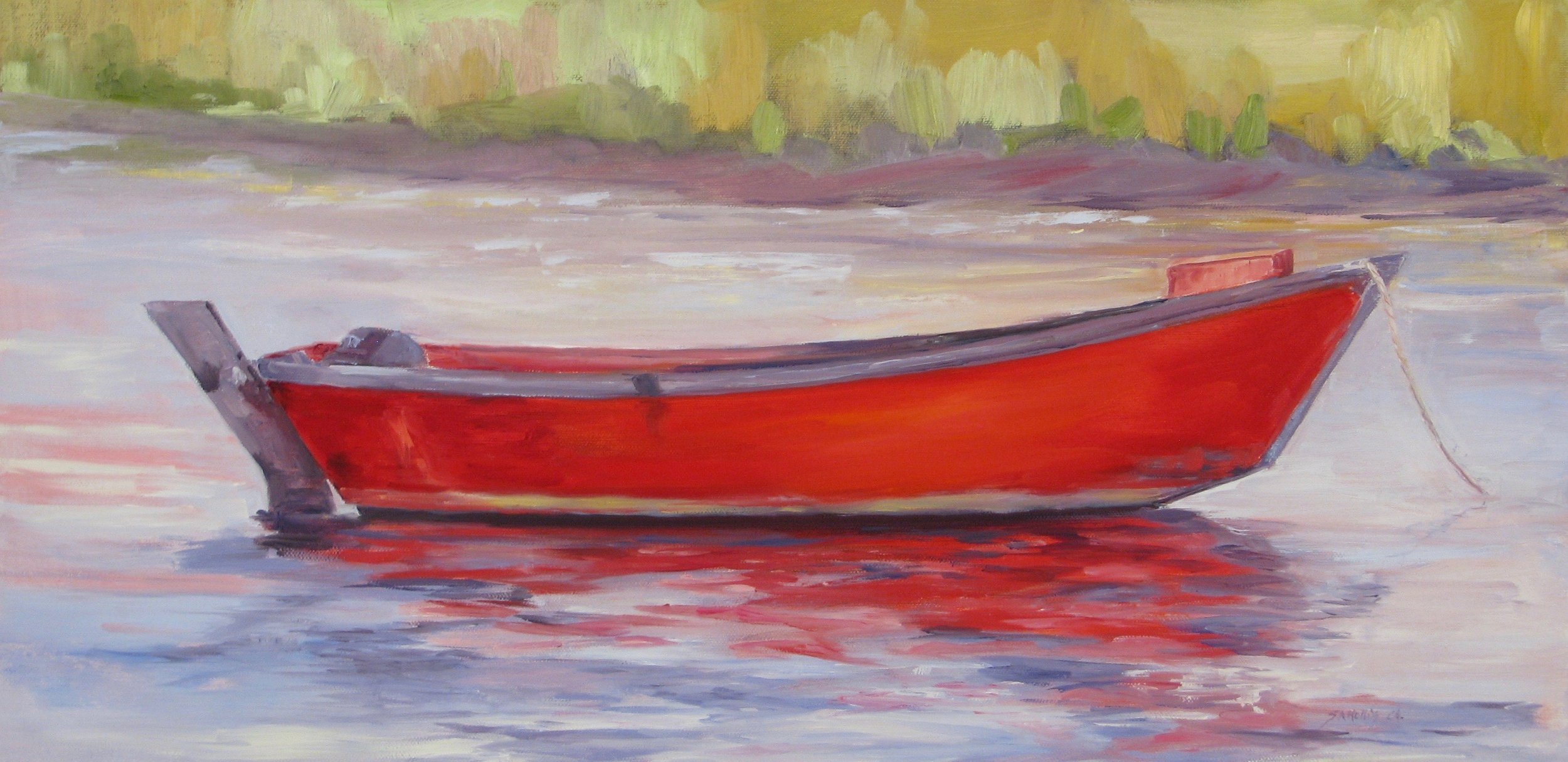 "Red Dory – 12"" x 24"""