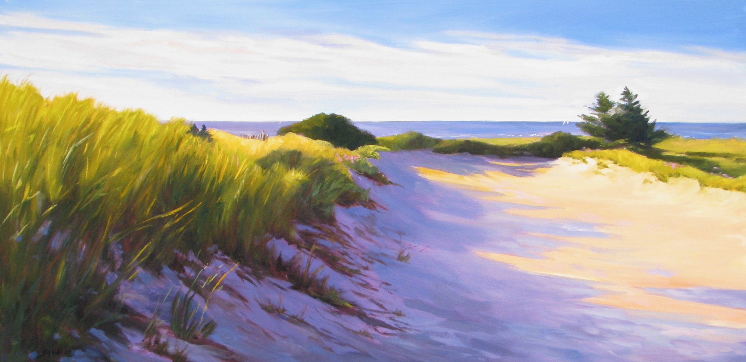 "Early Beach Light – 20"" x 40"""