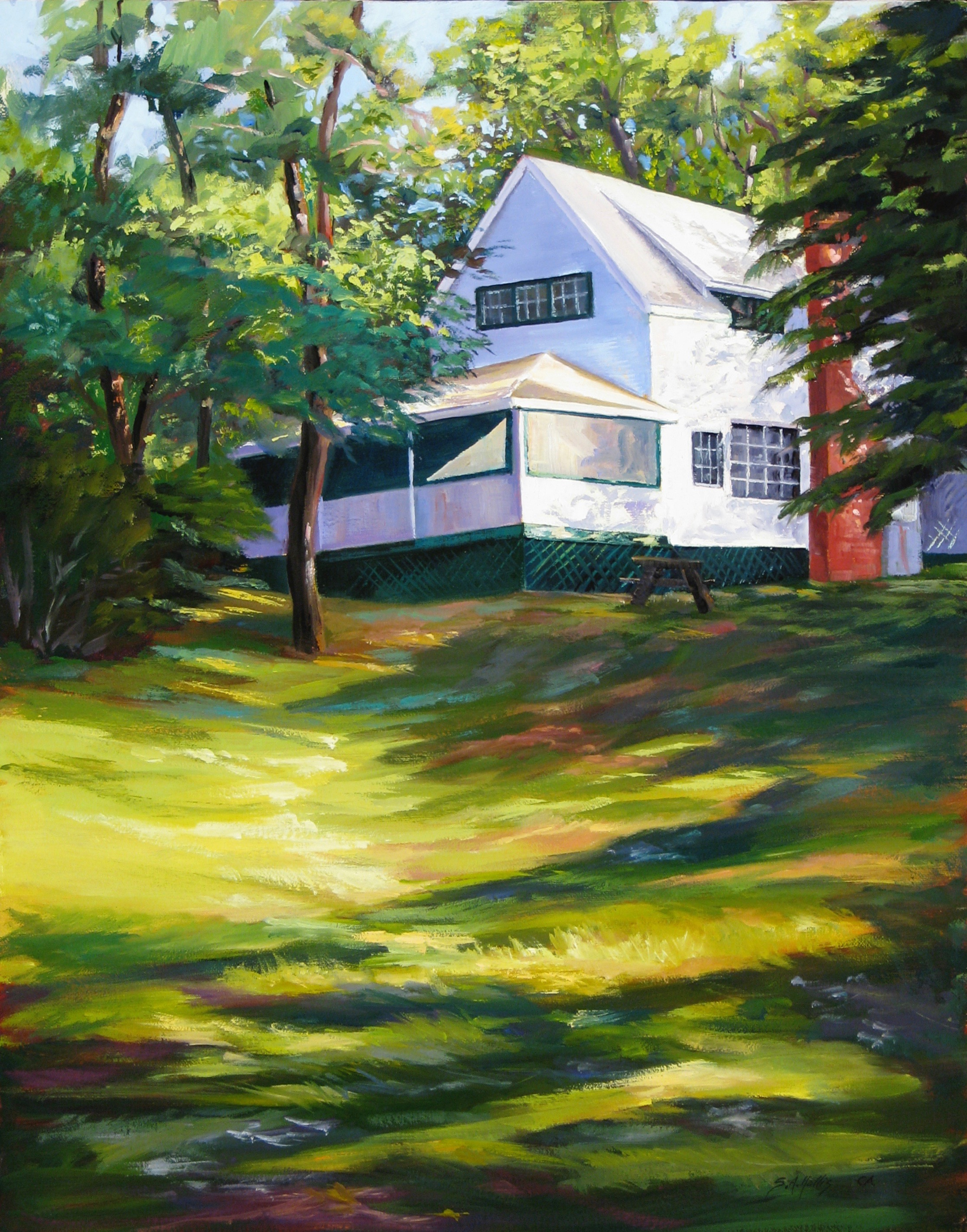 """Cottage on the Hill – 18"""" x 24"""""""