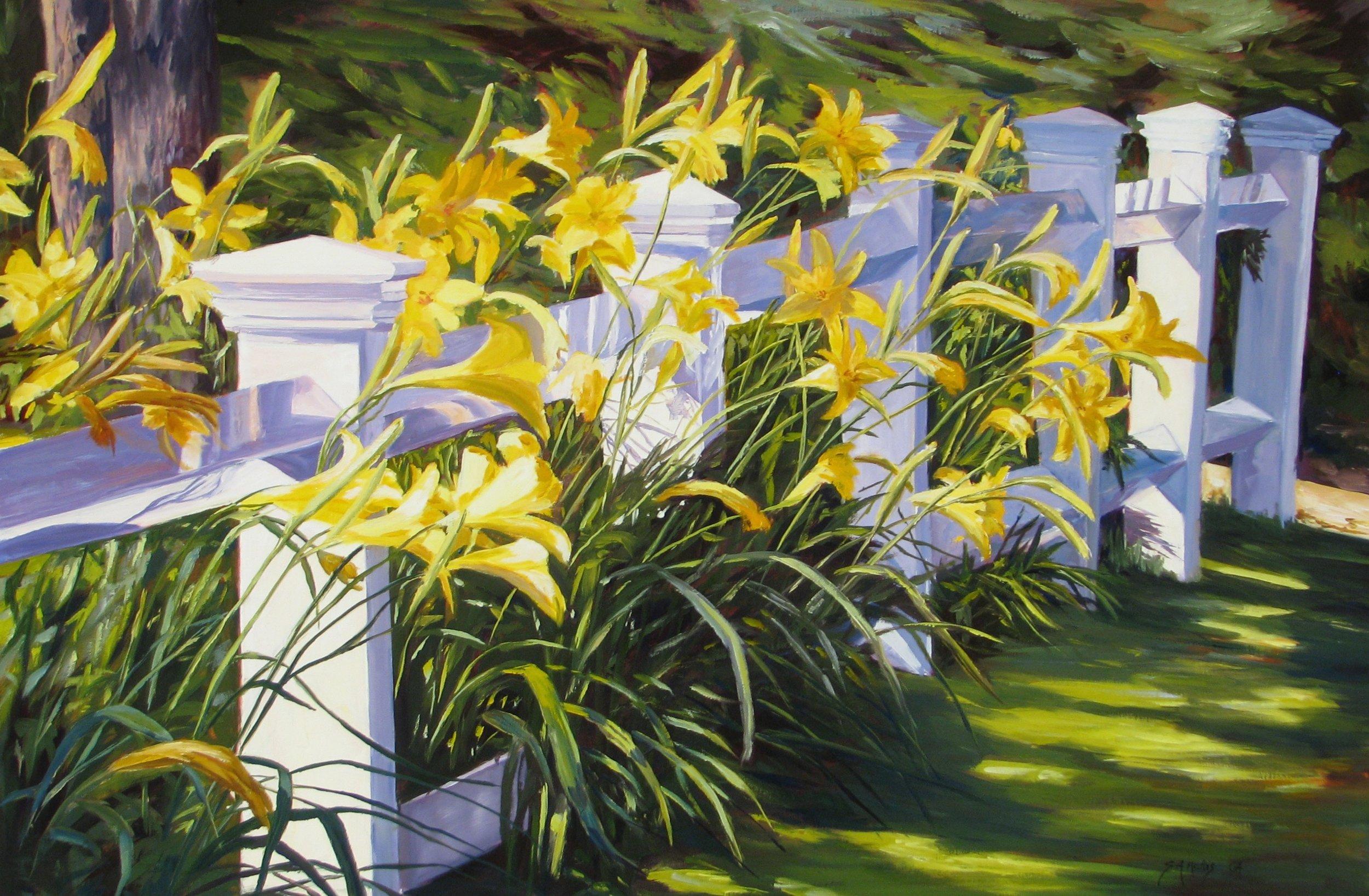 "Morning Lillies – 20"" x 30"""