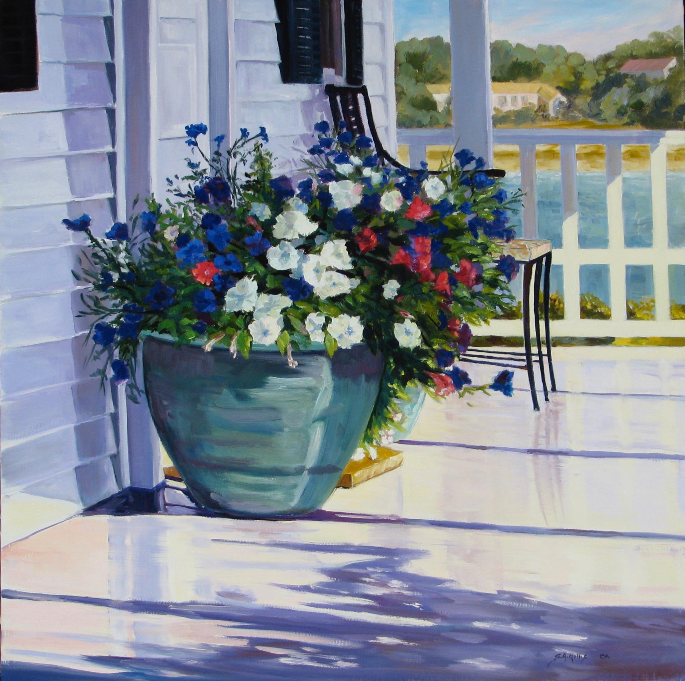"Porch Blooms – 18"" x 18"""