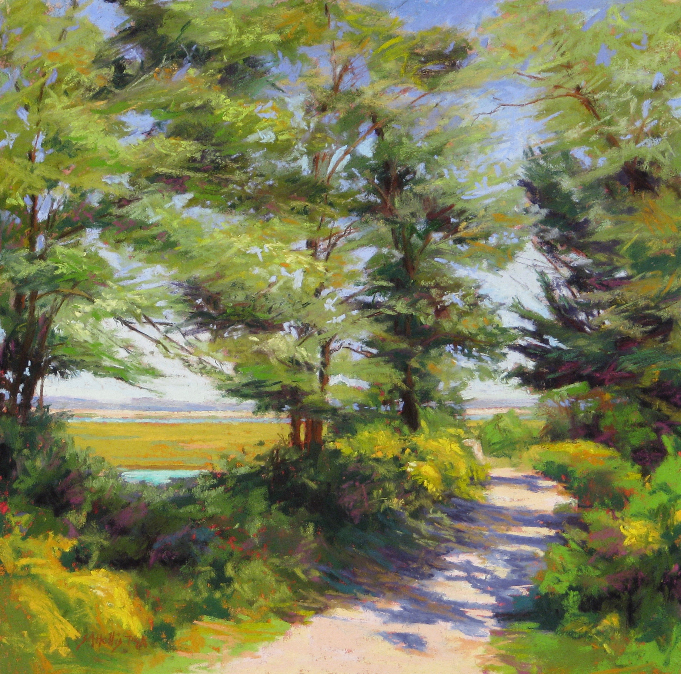 All Work Square at Creative Art Center, Chatham, MA - JULY 19 - AUGUST 29FIRT HILL - 13 X13 - PASTEL