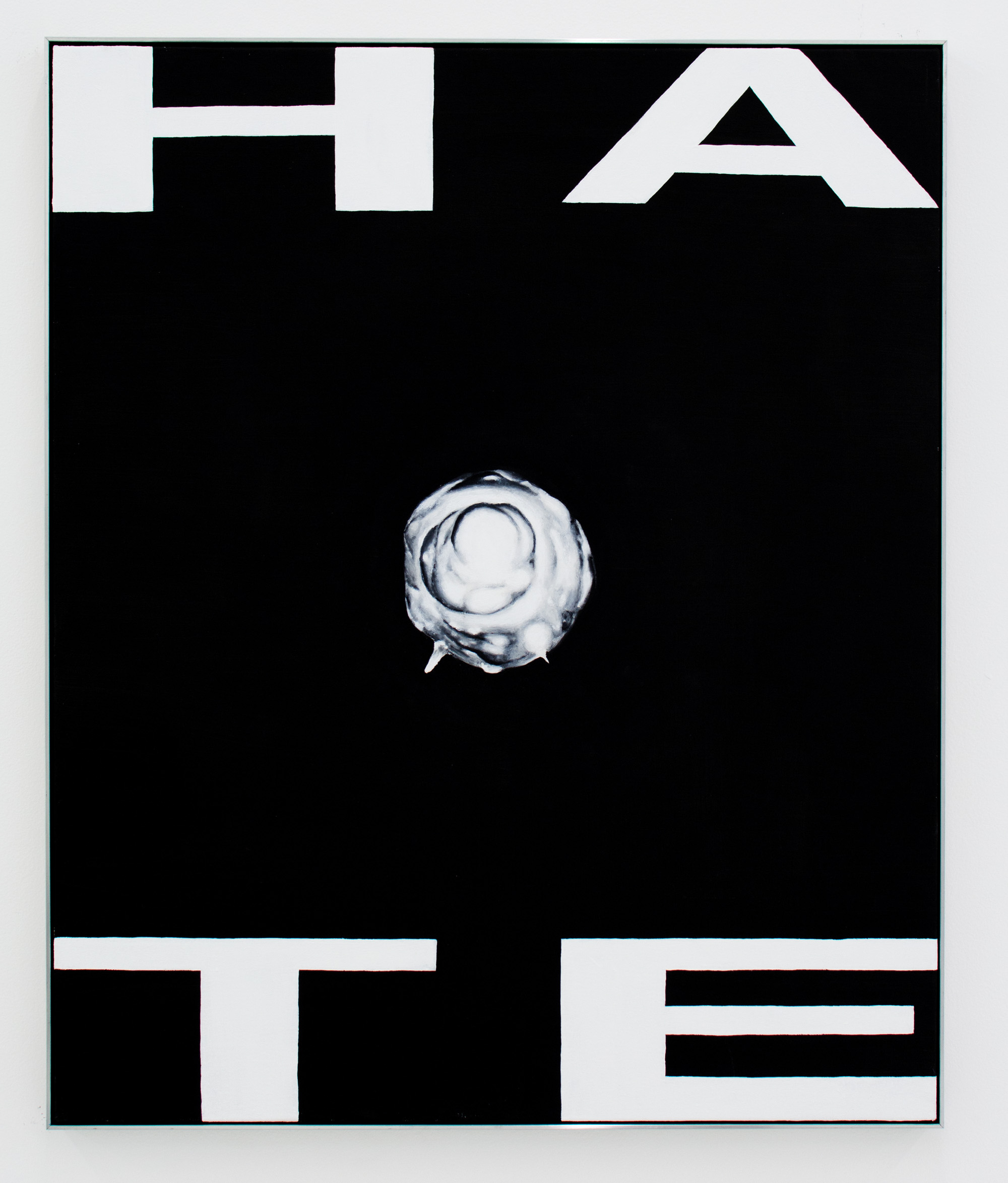 Hate (Trinity 3) , 2016, Oil on canvas in aluminum frame