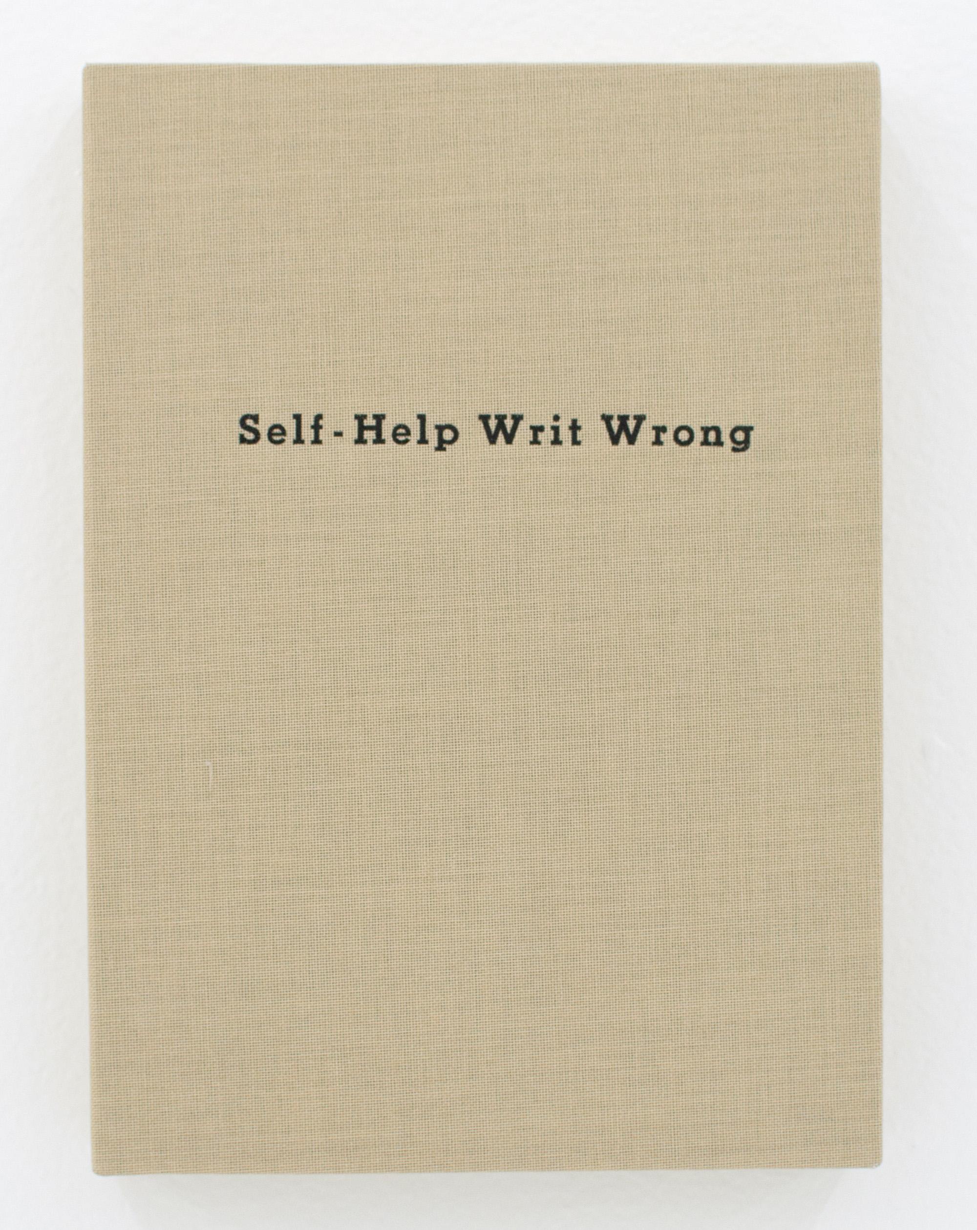 KEITH J. VARADI   Self-Help Writ Wrong,  2015, Ink on cover on panel