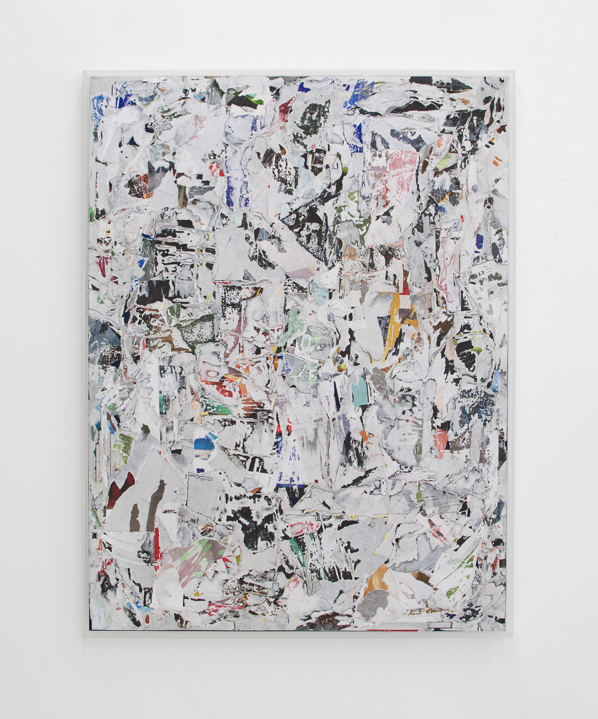 ANDREW LAUMANN   Untitled (Blind Mind) , 2016, Acrylic paint, methylcellulose, paper, on panel in acrylic frame