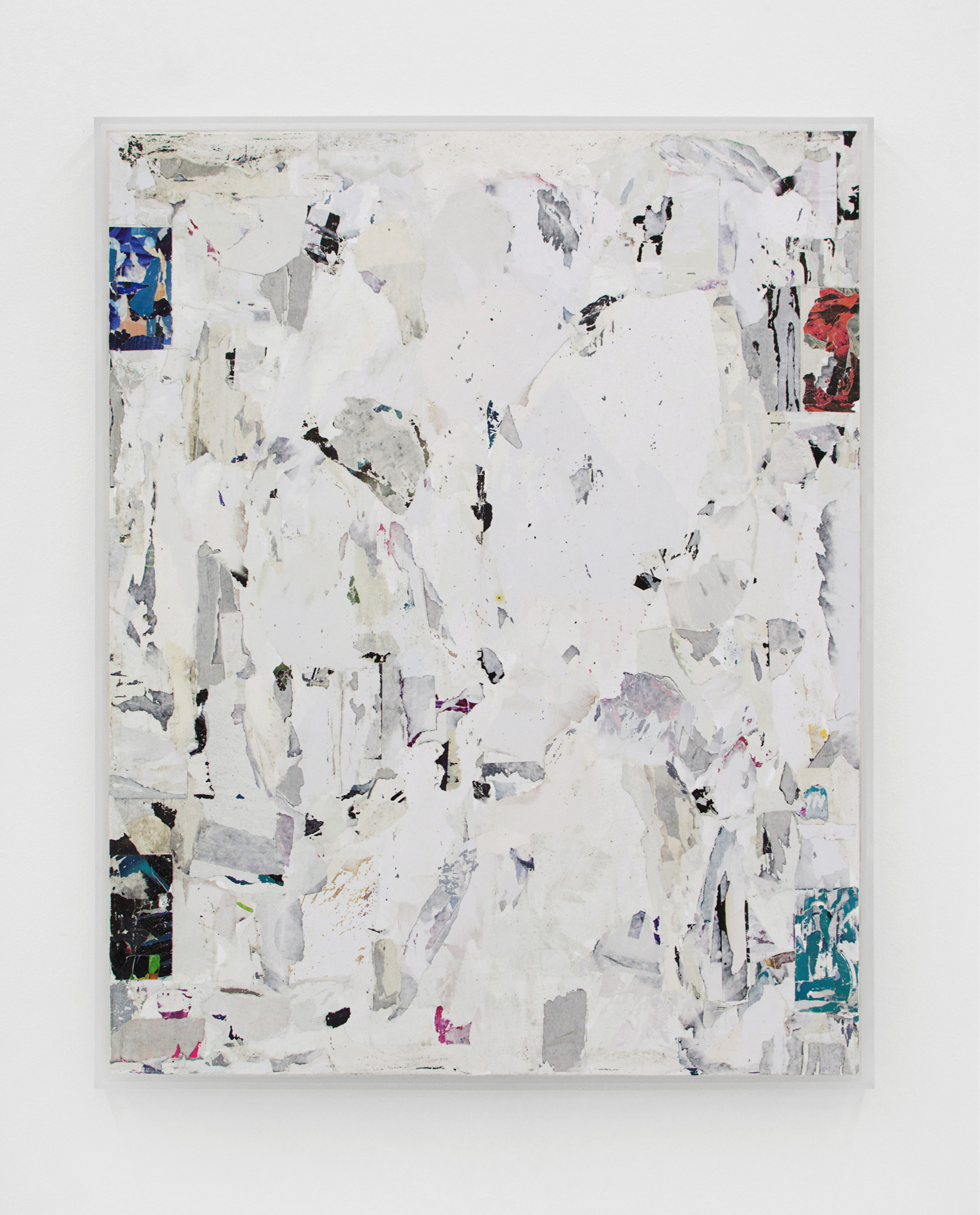ANDREW LAUMANN   Untitled (Joker), 2016 , Acrylic paint, methylcellulose, paper, on panel in acrylic frame