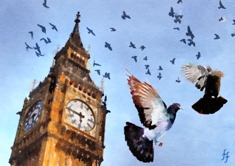 big-ben-london-UK-pigeons-funny-watercolour.png
