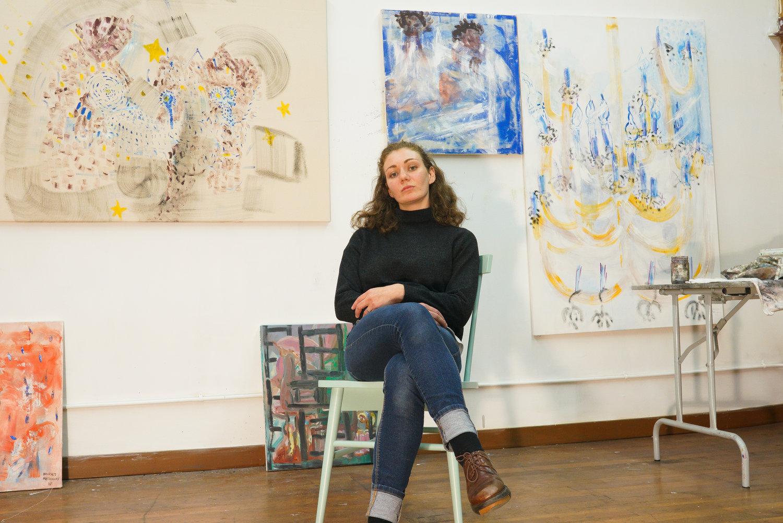 Harriet Poznanksy in her Oakland studio, portrait by Rohan DaCosta.