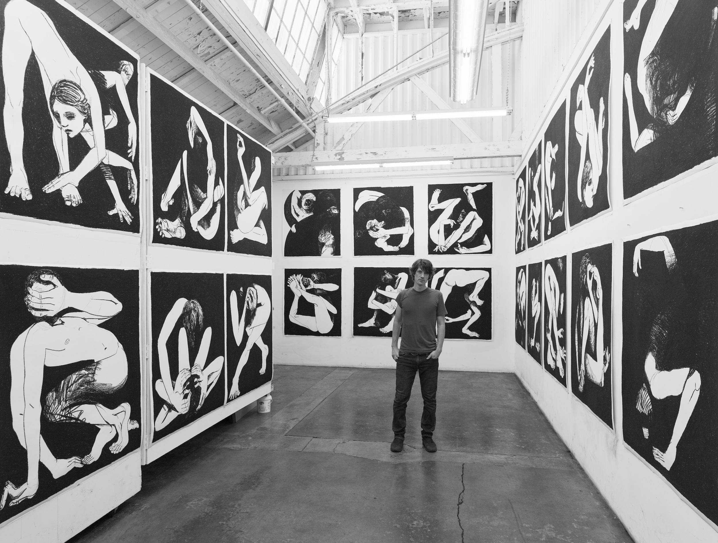 Artist Marty Schnapf in his LA studio, 2019
