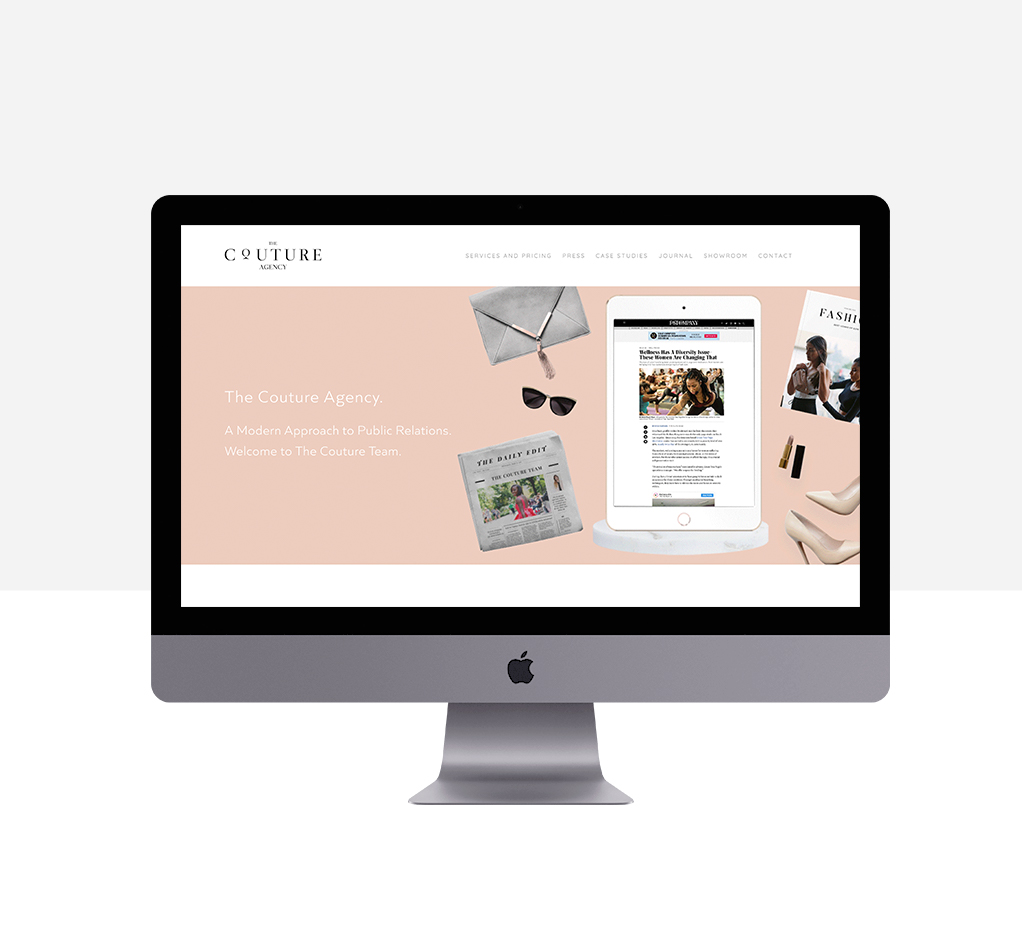 The Couture Agency Squarespace Website Design