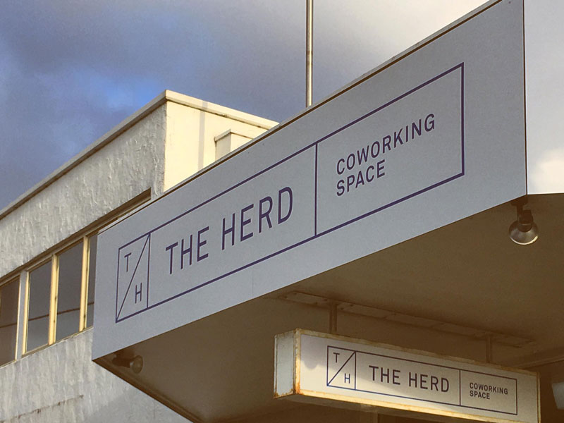 'The Herd Coworking offers formal and informal meeting space, hot-desks, and more permanent options for people aiming to move their business out of home.