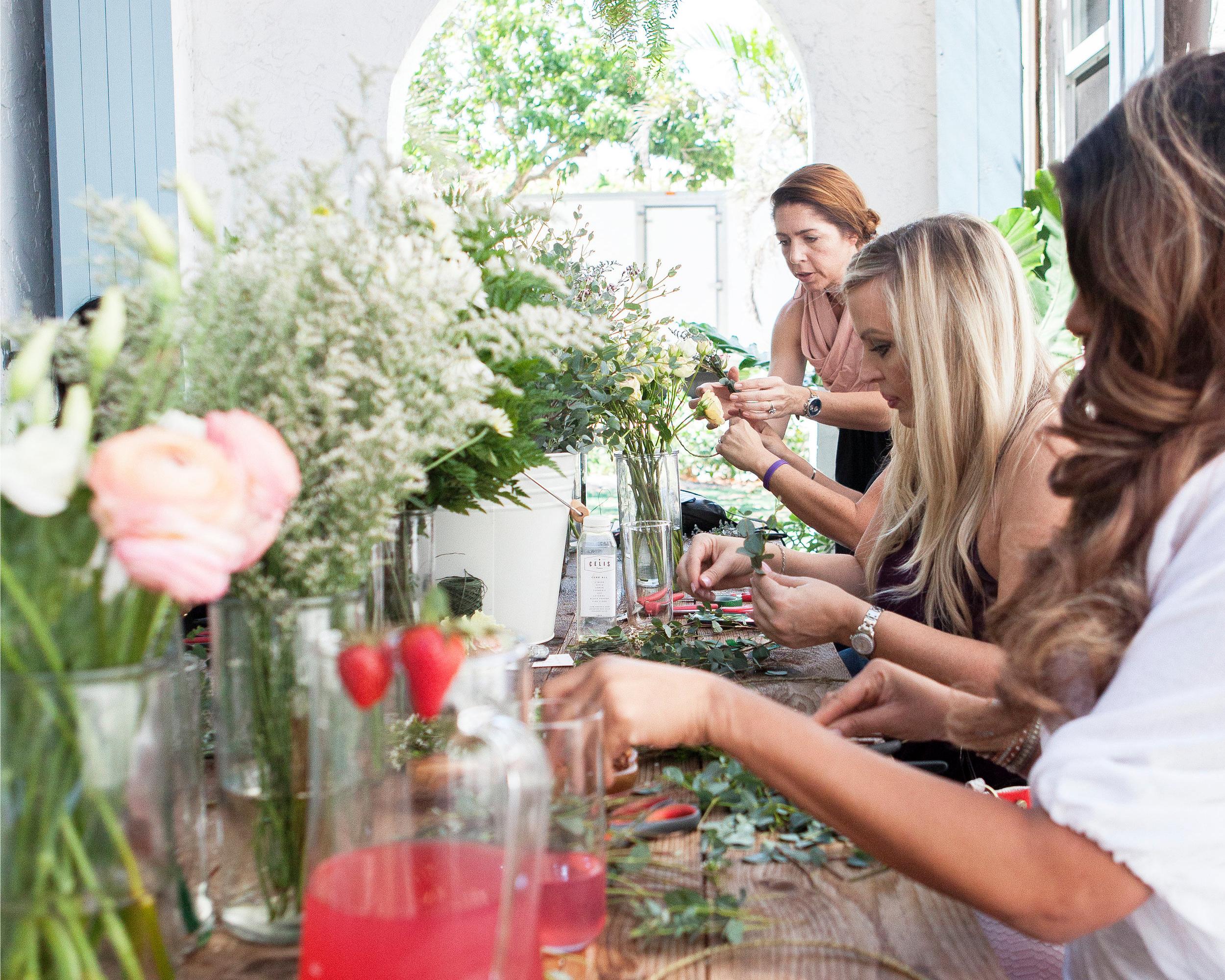 Flower and fringe - Flower Crown Workshop
