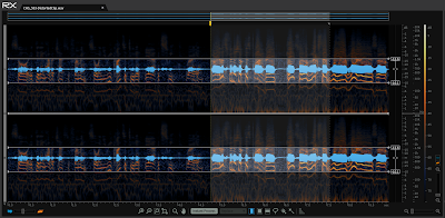 The audio on the right sounds like clipping, but its not. We've got a damaged microphone.
