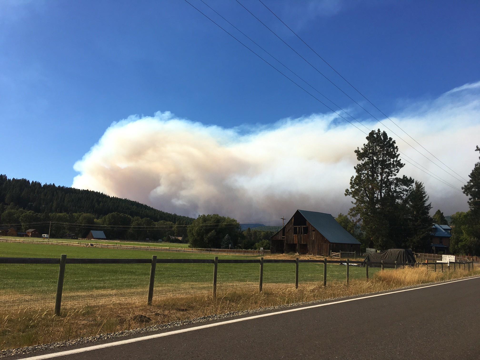 Jolly Mountain Fire. August, 2017.