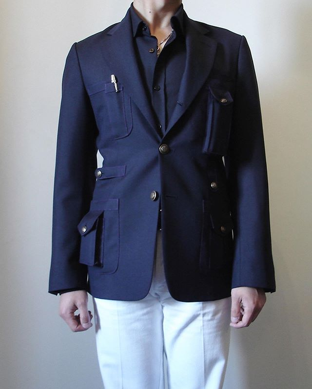 Back in the day, Bespoke Travel Jacket for customer (2009)