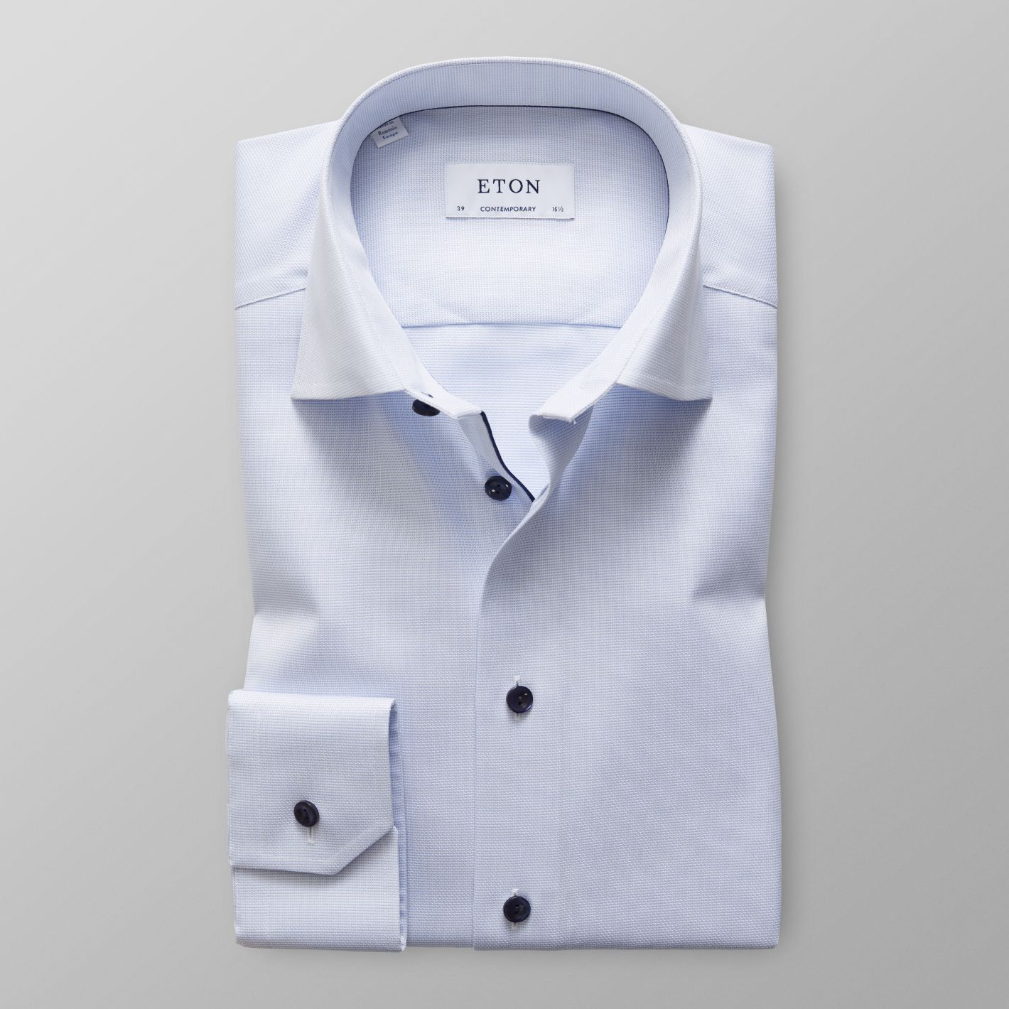 Sky Blue Royal Oxford Shirt - Navy Details