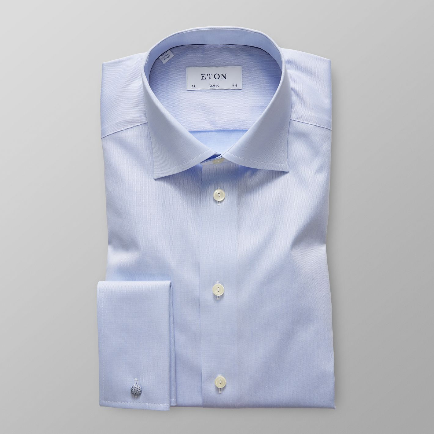 Light Blue French Cuff Shirt