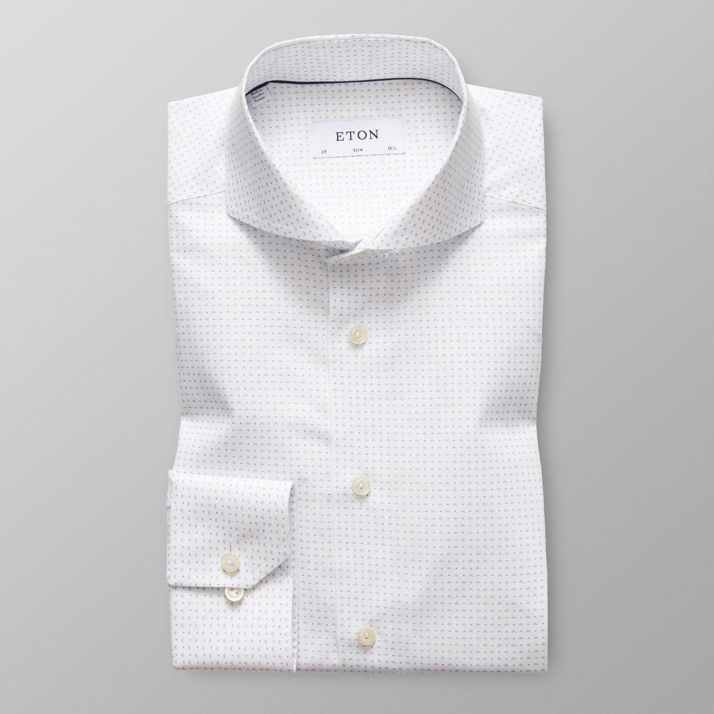 White Micro Print Shirt