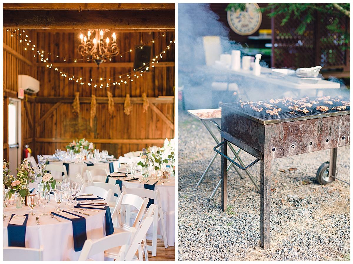BBQ farm wedding
