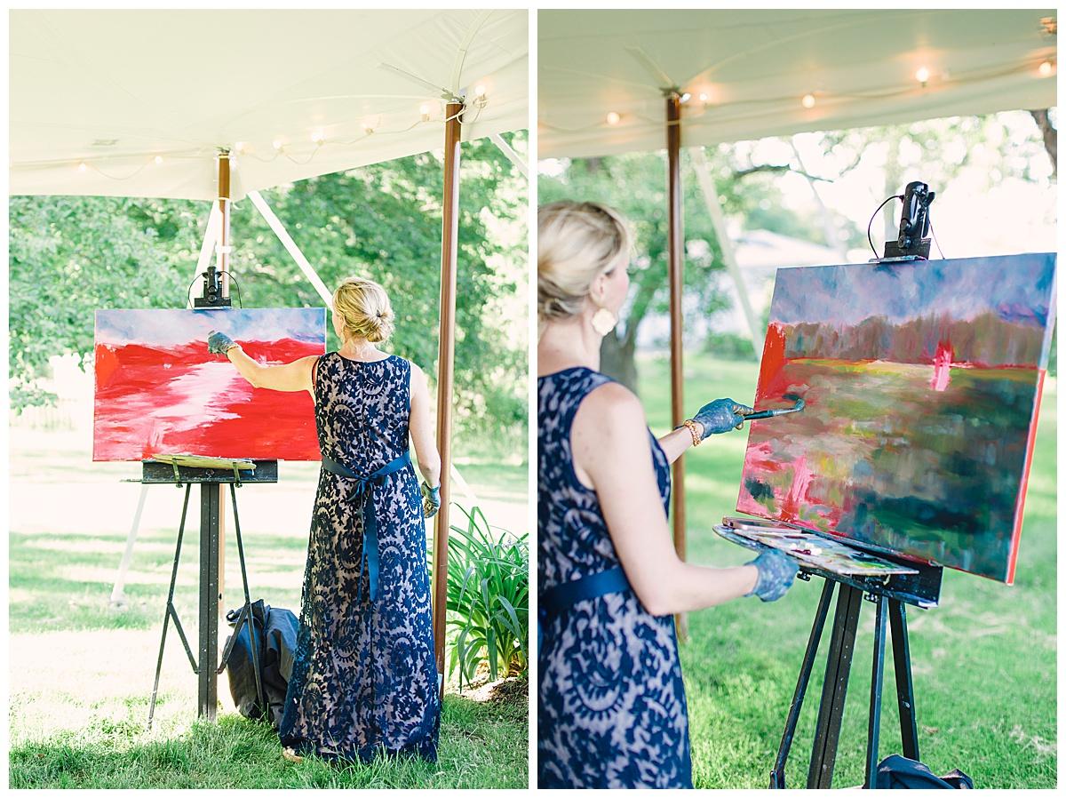 live painter at wedding