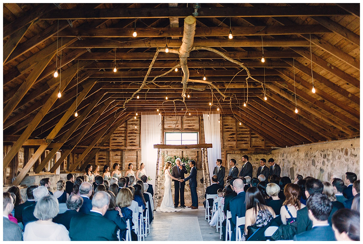 ceremony in a barn