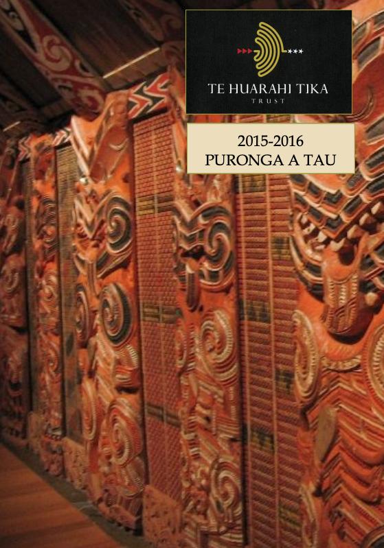 - Purongo a Tau | Annual Reports 2015 & 2016