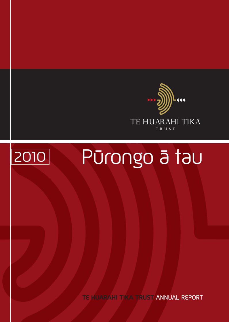 - Purongo a Tau | Annual Reports 2010