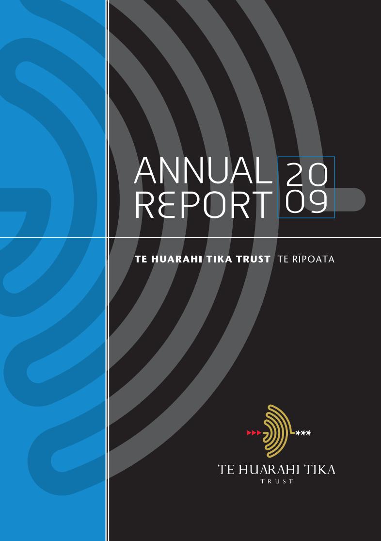 - Purongo a Tau   Annual Report 2009