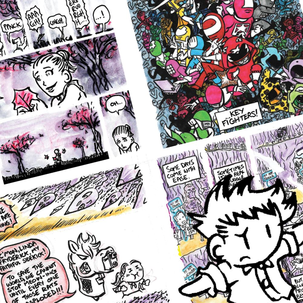 TOM TUNG : Tom Tung is a Melbourne cartoonist whose works include the daily  Mini Tom  web-comic (which just passed its 1500 day milestone) as well as many other works including  Key Fighters  – a Japanese-inspired superhero comic,  Horse Gun Mouth  – an absurdist adventure, and  Queen of Action  a fold-out poster comic.