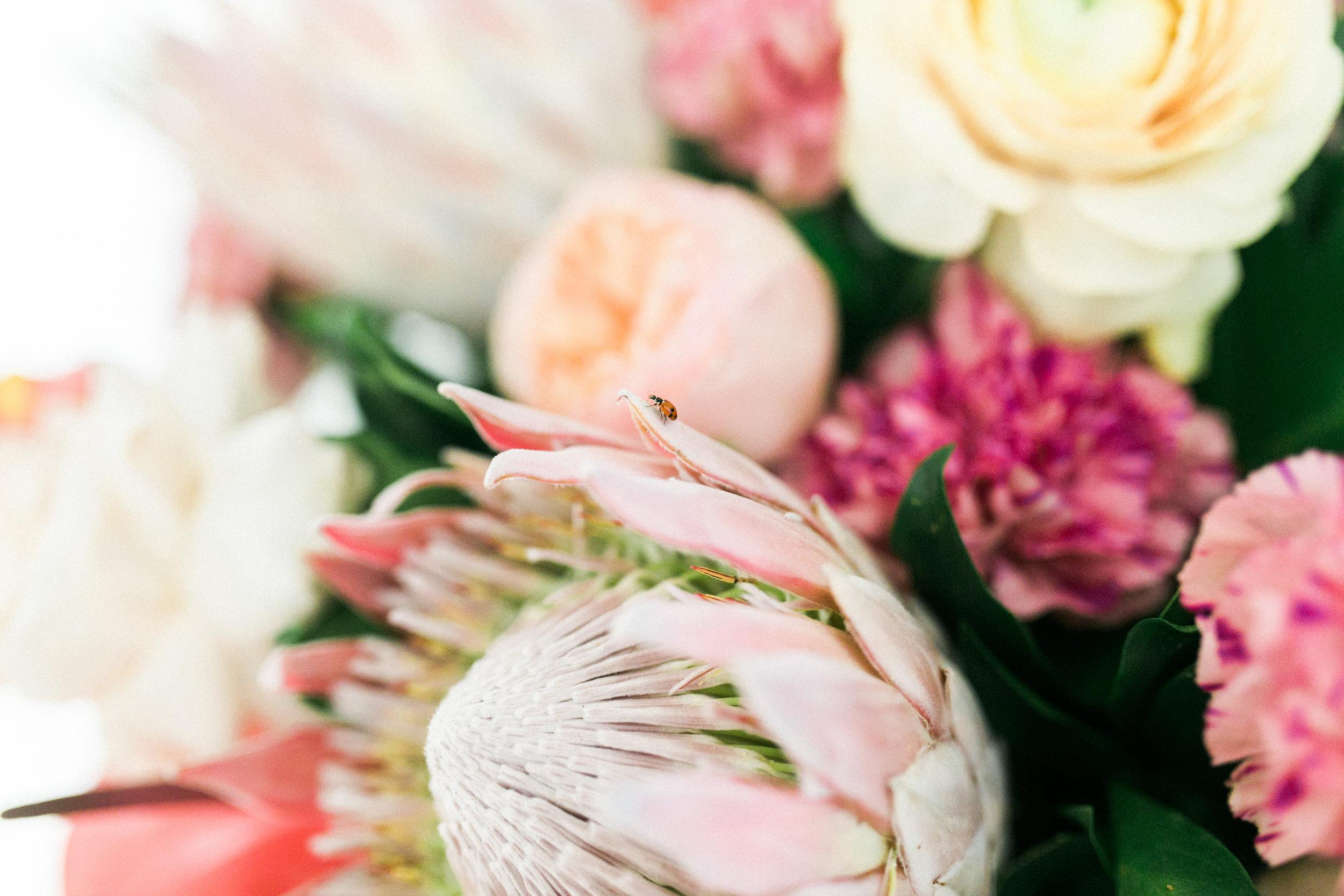 Tropical Wedding Floral Arrangement Kelowna