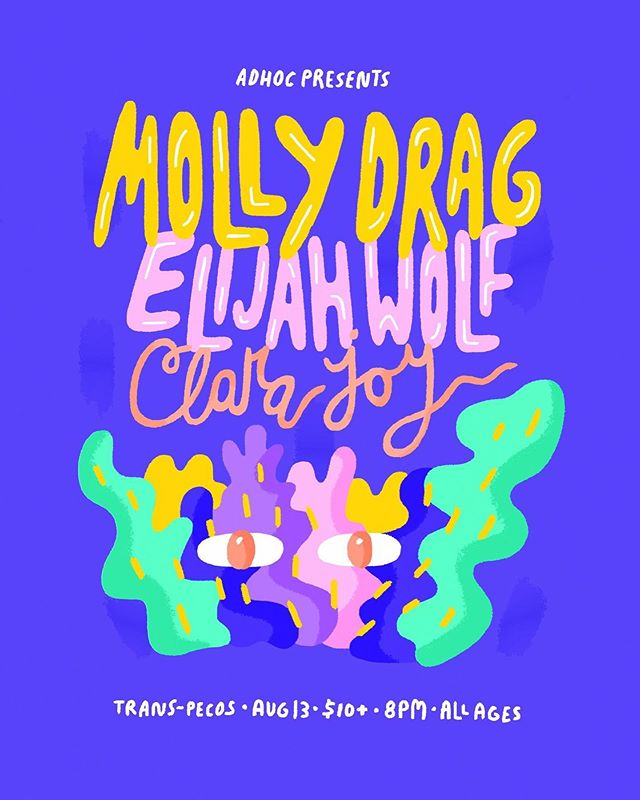 This coming Tuesday @mollydrag plays @trans.pecos with @elijahwolf & @clrajoy! Brooklyn folk will get to hear solo versions of songs off Molly Drag's upcoming record 'touchstone' so it's gonna be a real TREAT y'all. Come on out for a good time! #eggyeah #transpecos #mollydrag