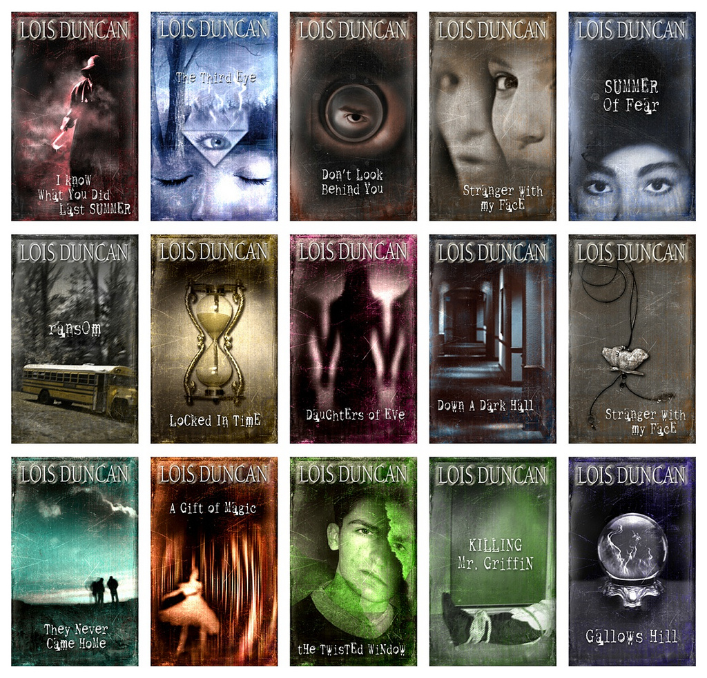Lois Duncan Series Branding. Cover Art  and design by Ericka O'Rourke