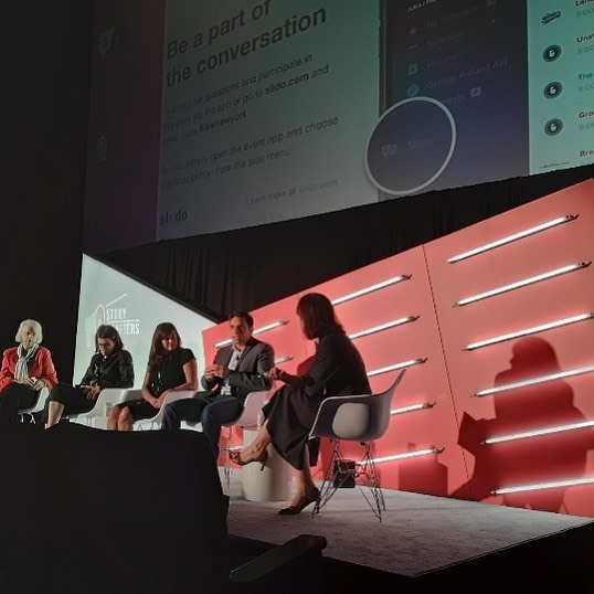 Live from #AWNewYork! The recurring theme of the morning: be relevant, have an idea, stand for something, build a community, and reflect the real world.     https://www.instagram.com/p/B2w9dYFgyjM/?igshid=1b0gwctv4s066