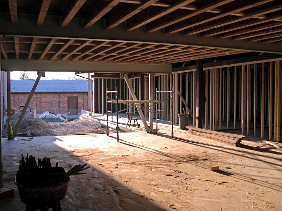 Lobby area, looking out the front door. Before freight warehouse across Orr street was demolished.)