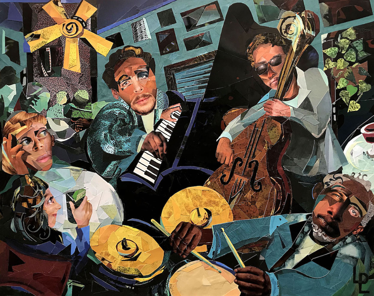 """Jazz at Murry's""   collage   16x20"