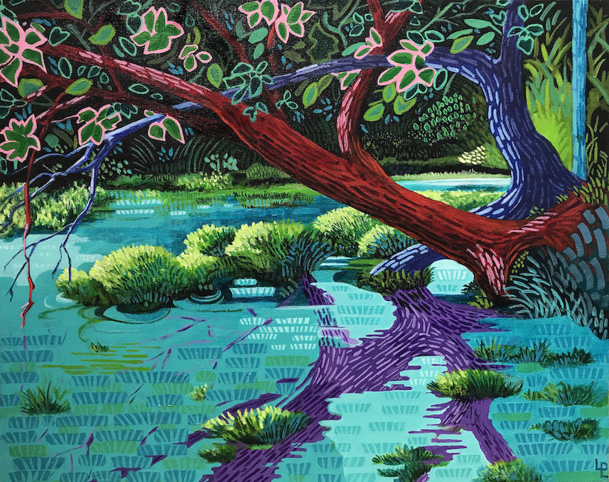 """Hockney Visits Phelps County""   acrylic   16x20"