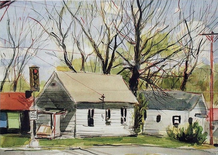 Luther McQuitty House. watercolor