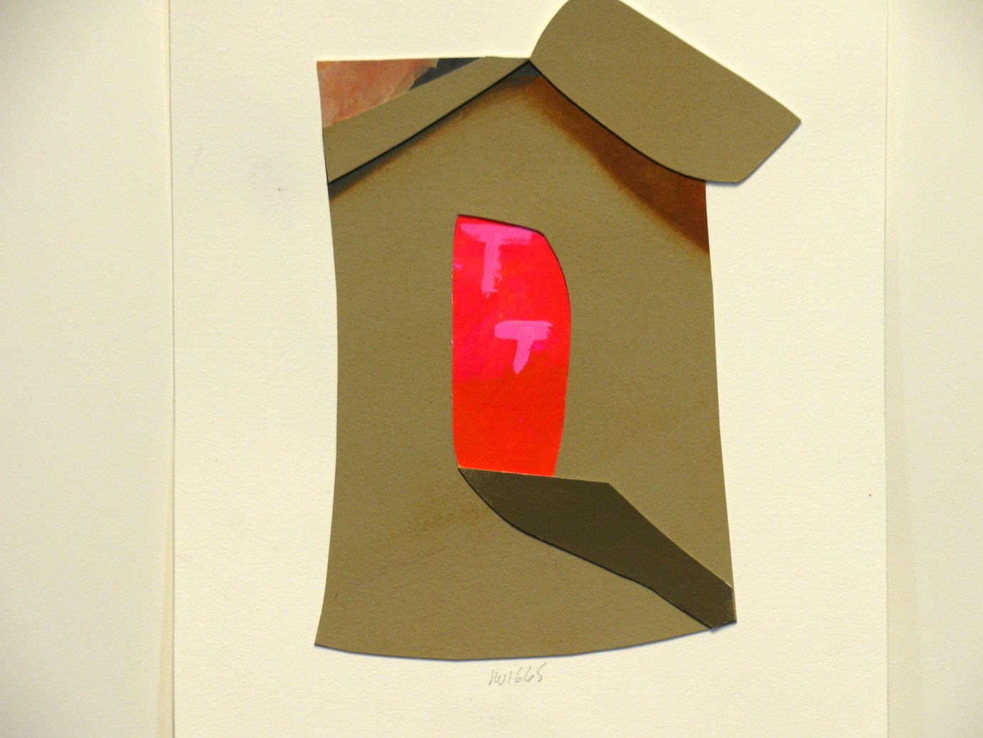 Window.  collage.  gouache printed papers