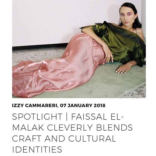 Latest piece on one of my favourite emerging designers @faissalelmalak 💗 on ORDRE.com // full read: https://www.ordre.com/news/187  #craftsmanship #emergingdesigner #faissalelmalak