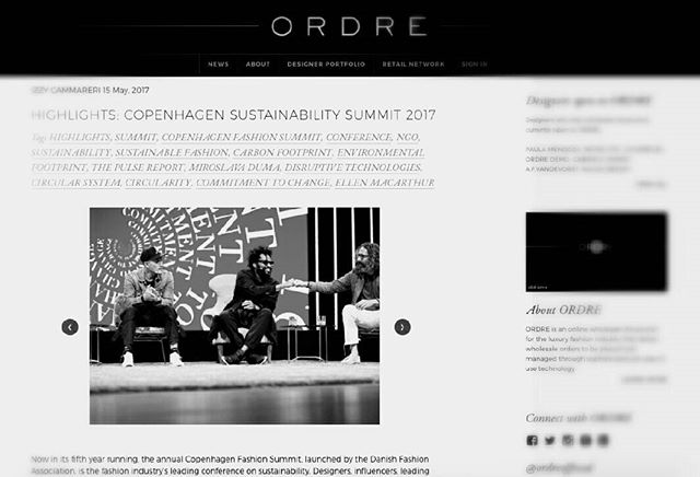 New piece on the progress of sustainable fashion up on ORDRE.com. Mega things are happening in the industry, go take a peek 😌 #sustainablefashion #sustainability #ORDRE #ORDREnews #fashionnews