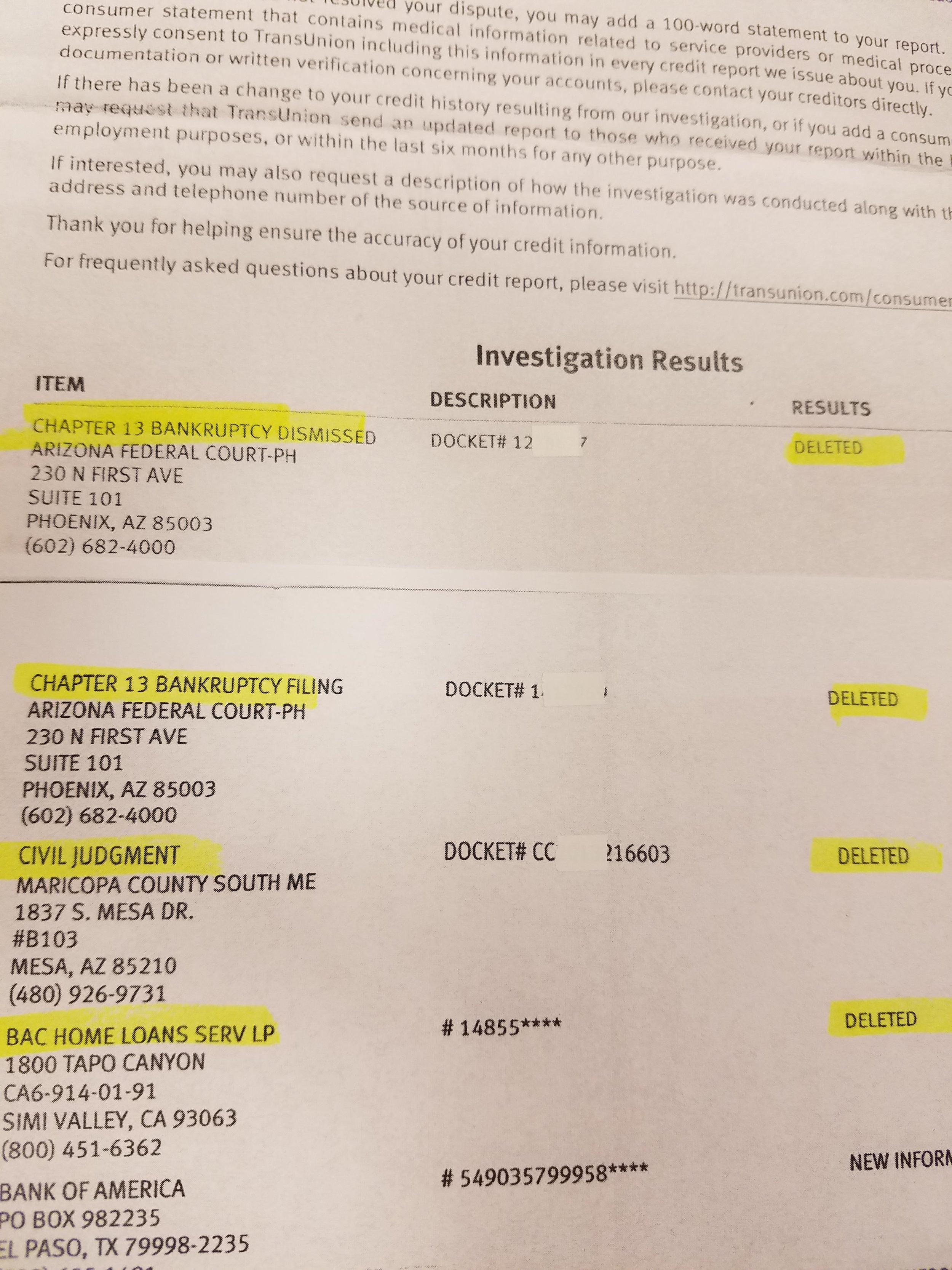 Proof of Results — Simple Credit Repair