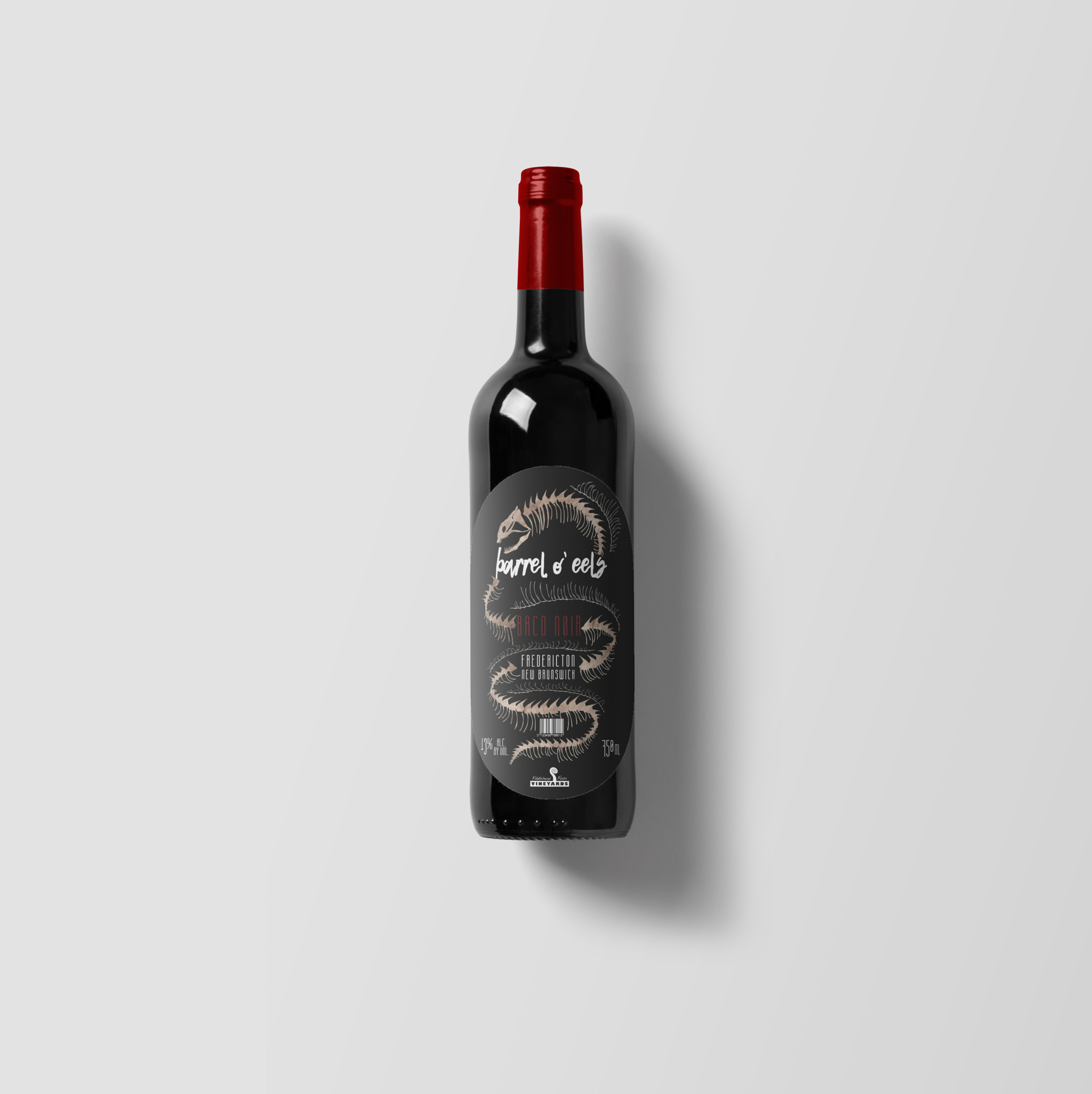 wine label - Barrel O' Eels   A fictional wine brand